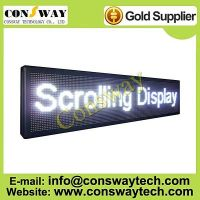 CE approved led advertising panel with white color and size 168cm(W)*40cm(H)*7cm(D)