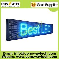 CE approved programmable led sign with blue color and size 200cm(W)*40cm(H)*7cm(D)