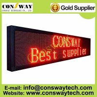 CE approved led message board with red color and size 200cm(W)*40cm(H)*7cm(D)