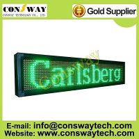 CE approved led moving sign with RGY color and size 104cm(W)*24cm(H)*7cm(D)