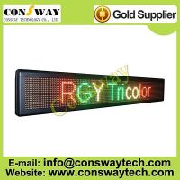 CE approved outdoor led advertising screen with RGY color and size 136cm(W)*24cm(H)*7cm(D)