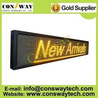 CE approved led scrolling sign with yellow color and size 232cm(W)*40cm(H)*7cm(D)