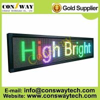 CE approved led advertising display with RGB full color and size 168cm(W)*40cm(H)*7cm(D)