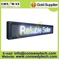 CE approved outdoor advertising led display screen with white color and size 136cm(W)*24cm(H)*7cm(D)