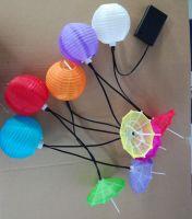 Neylon umbrella battery light string Mini Umbrella Party String Lights