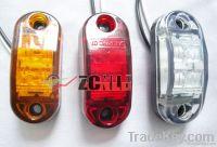 Oval LED Side Marker Trailer Lamp