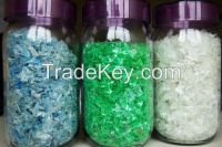 Pet Flakes(Hot Washed) (White,Light Blue & Green)