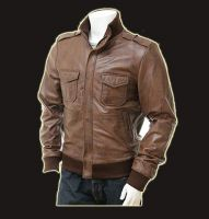 leather jacket, made of sheep skins