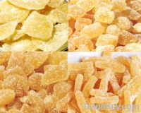 Crystallized ginger stick/dice/chunk