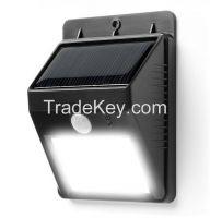 Motion sensor function waterproof  solar wall light Solar led wireless garden wall lamp