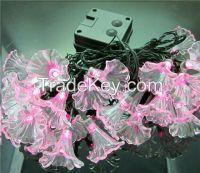 20 LED Solar Power LED Christmas Morning Glory Lamp Flowers String Lights Holiday Lights