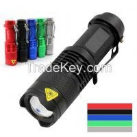 high power mini rechargeable LED flashlight