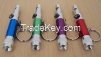 3in1 Camping Survival Aluminum Alloy Whistle Mini LED Flashlight Compass