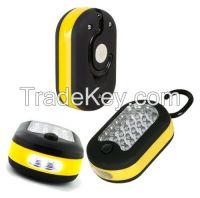 24+3LED  Magnetic Lamp with Hook  car repair tool light camping light