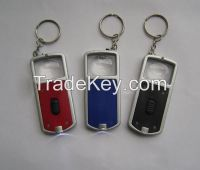 Magnifying glass keychain with led light