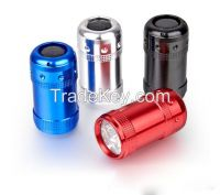 6 led flashlight key chain