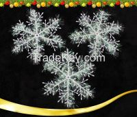 Christmas Secoration White Snow Snowflakes Bunch Hanging Ornaments Stereoscopic Snow for Christmas Tree Accessories