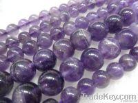 natural amethyst round beads/semi-precious stones beads