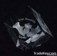 K9 Cubic Corner Cutting Crystal Gift
