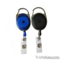 Carabiner Badge Reel with Vinyl Strap