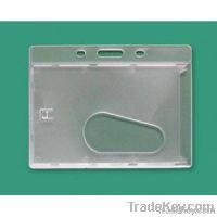Enclosed Id Badge Holder with Thumb Slot