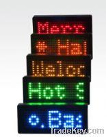 led  mini display LED badge  led tag