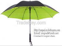 "23"" Straight Auto Fiberglass Pongee Color Pigment Umbrella"