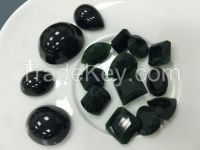 Natural Burma Jadeite, Top grade-A Black diamond series with high transparency