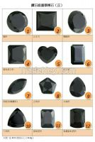 Natural Burma Jadeite (grade-A), Black diamond series 12 different model (shape), each around 30 ~ 50 carat