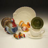 Ceramic Thanksgiving Turkey Holiday Items