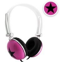Stereo Headphone for MP3/MP4 Players with Star Graphics