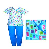 V-neck scrub set Blue. Medical and Nursing scrubs