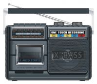 USB RADIO CASSETTE RECORDER PLAYER (AY-369)