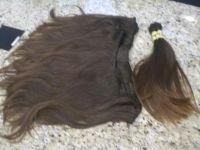 Brazilian Machine weft and pony tail
