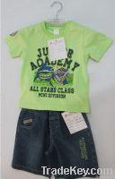 kids sets children suit boy T-shirts boys denim pants