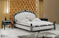 Luxury leather bed , popular leather bed