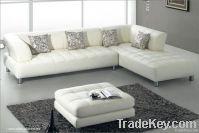Italian leather modern design hotel sofa