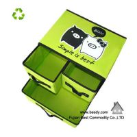 New style Non woven  foldable storage box with drawers