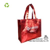 Laminated Non Woven Bag with Button and Long Handle