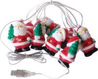 USB SANTA CHAIN LIGHT