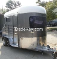 extended 400mm length 2 horse straight load trailer with kitchenette