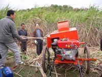 Sugarcane leaf-removing machine