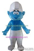 smurf mascot costume, cartoon mascot, party costumes