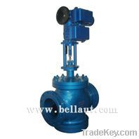 Electric motorized control/globe valve with electric actuator (single-
