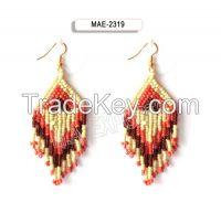 Seed glass bead earring