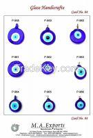 Evil eye glass pendant