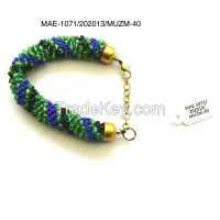 Seed glass bead bracelet