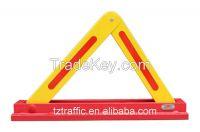 Triangle car parking barrier, manual parking lock.