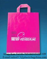 plastic handle bags, plastic shopping bags