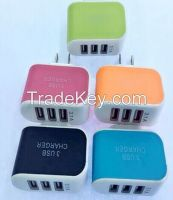 USB AC Mobile Wall Charger (3 Ports)
